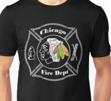 Blackhawks Chicago Fire Department Unisex T-Shirt