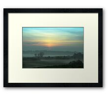 Fog Layers Framed Print