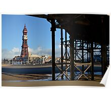 Under Central Pier, Blackpool Poster