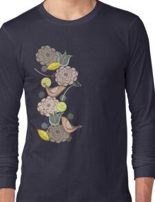 Pink Floral Potpourri Garden & Birds Long Sleeve T-Shirt