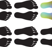 Feet - Black Sticker
