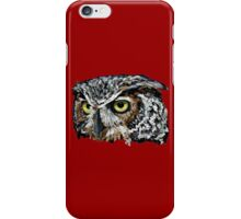 Great Horned Owl (Red) iPhone Case/Skin