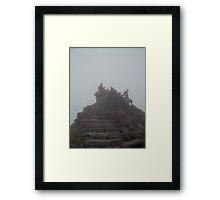 Snowdon Summit; 3,560 feet Framed Print