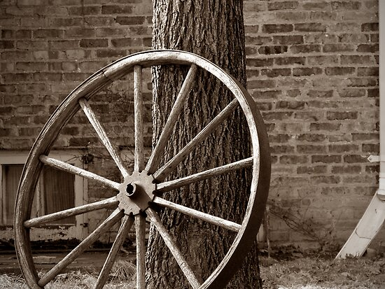 Old Wagon Wheel by sternbergimages