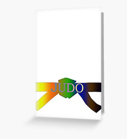 Judo Belt - Gradient Greeting Card