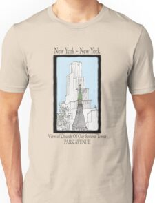 NYC~Church Steeple, open the doors and see all the people Unisex T-Shirt