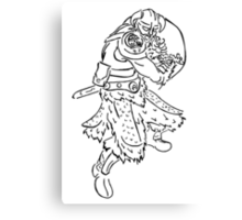Dragon Kin Celtic Canvas Print