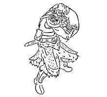Dragon Kin Celtic Photographic Print