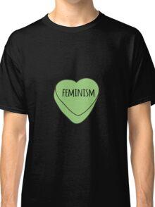 Feminism Candy Heart Classic T-Shirt