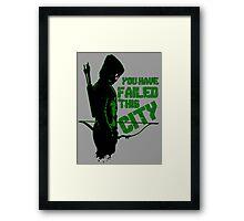 Green Vigilante Framed Print