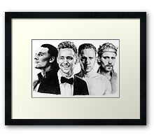 The Many Faces of Tom Hiddleston Framed Print