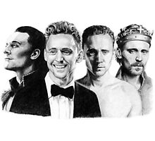 The Many Faces of Tom Hiddleston Photographic Print