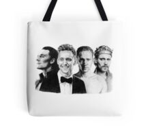 The Many Faces of Tom Hiddleston Tote Bag