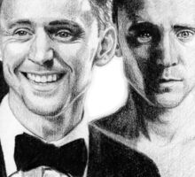 The Many Faces of Tom Hiddleston Sticker