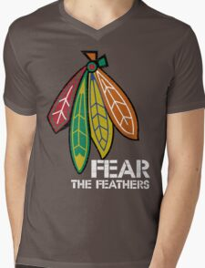 Fear The Feathers Mens V-Neck T-Shirt