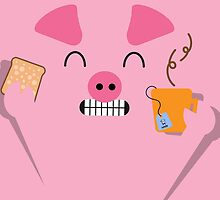 Happy Pig - Breakfast by Alfons Freire