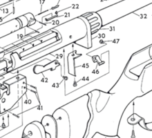 Rifle: How to make it Sticker