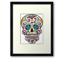 skull white Framed Print