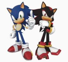 Sonic and Shadow - Sonic the Hedgehog by samhmcq