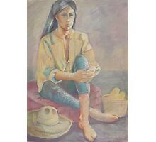 Somber Woman Photographic Print