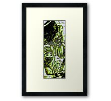 Salvation ushered in by a haunting maddness Framed Print