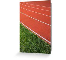 Running Track Greeting Card