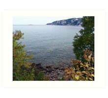 Old Woman Bay, Lake Superior Art Print