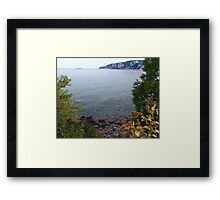 Old Woman Bay, Lake Superior Framed Print
