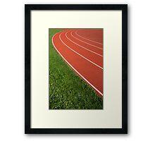 Running Track Framed Print