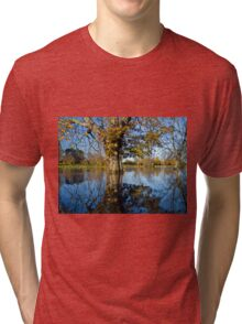 Horse Chestnut in the flooded River Ouse, York, England Tri-blend T-Shirt