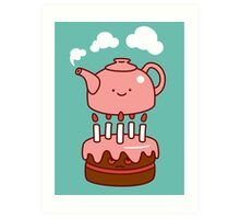 tea with cake Art Print
