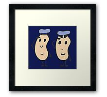 Navy Beans Framed Print