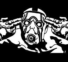 Borderlands - Psycho Black and White by TylerMellark
