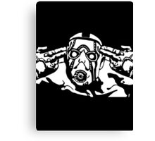 Borderlands - Psycho Black and White Canvas Print