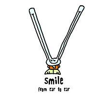 Bad Bunny - Smile Photographic Print