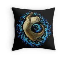 Otter Waves Throw Pillow