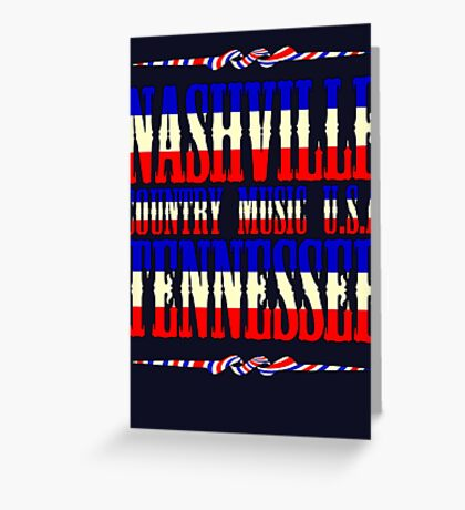 Nashville  Tennessee Country Music Greeting Card