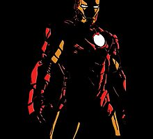 The Avengers - Iron Man Minimal Figure Black Background (2) by TylerMellark