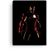 The Avengers - Iron Man Minimal Figure Black Background (2) Canvas Print