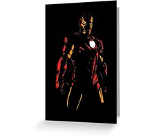 The Avengers - Iron Man Minimal Figure Black Background (2) Greeting Card