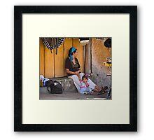 Nina Y Mama Framed Print