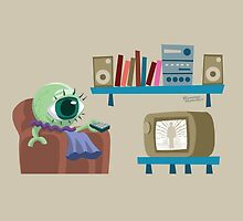 Galactic Federation Ambassador watches television by pixbyr