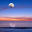 MOONRISE OVER BEACH by kfbphoto