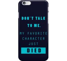 Nerd - Don't Talk to Me iPhone Case/Skin