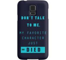 Nerd - Don't Talk to Me Samsung Galaxy Case/Skin