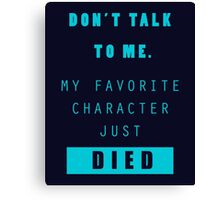 Nerd - Don't Talk to Me Canvas Print