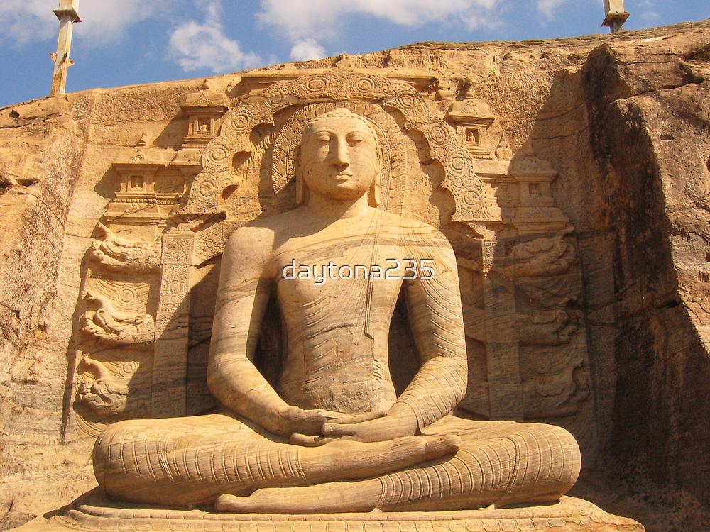 Buddha Statue in Rock by daytona235