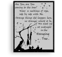 Hunger Games - The Hanging Tree Song (2) Canvas Print