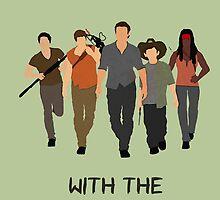 The Walking Dead - Carl, Rick, Glenn, Daryl, Michonne by TylerMellark