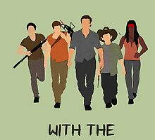 The Walking Dead - Carl, Rick, Glenn, Daryl, Michonne by TylerMellark
